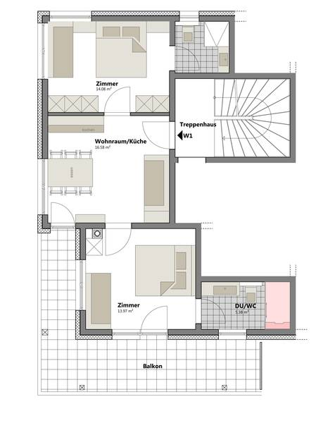 Layout Apartment Alpenrose LODGES BERNARDES