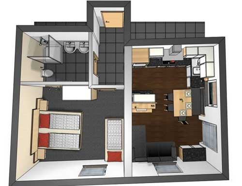 Layout Apartment Rotpleiskopf Fiss